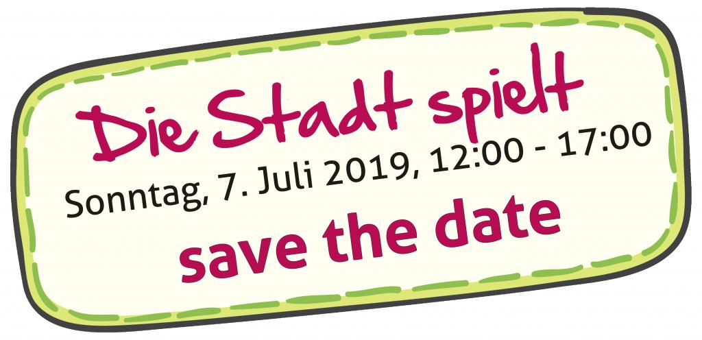 save the date. 7. Juli 2019