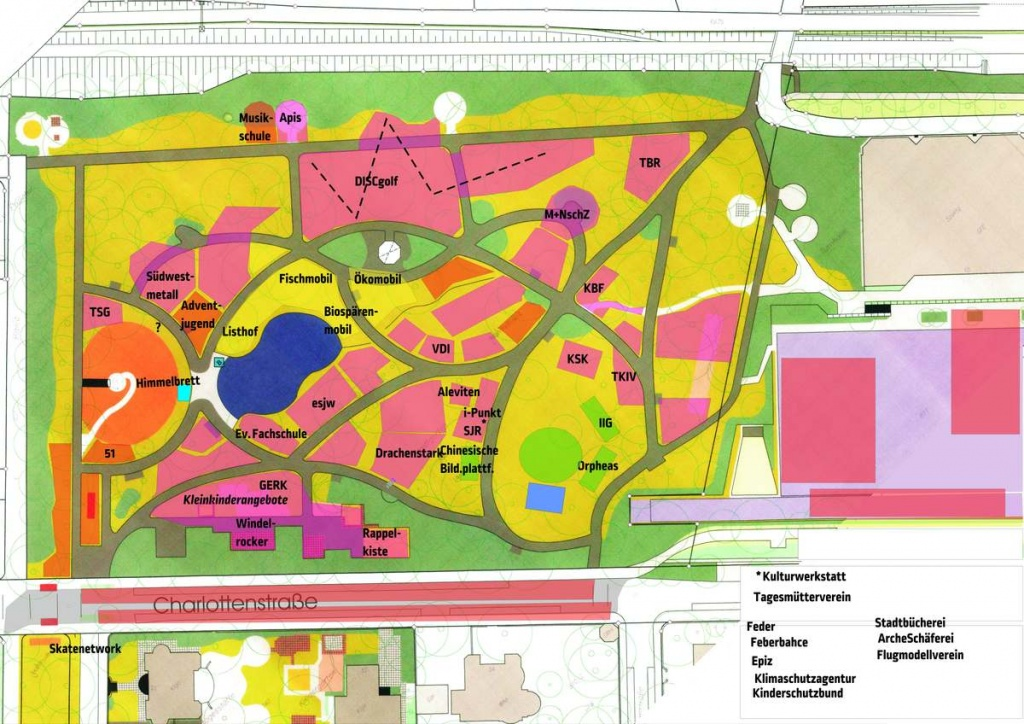 Lageplan im Entwurfsstadium